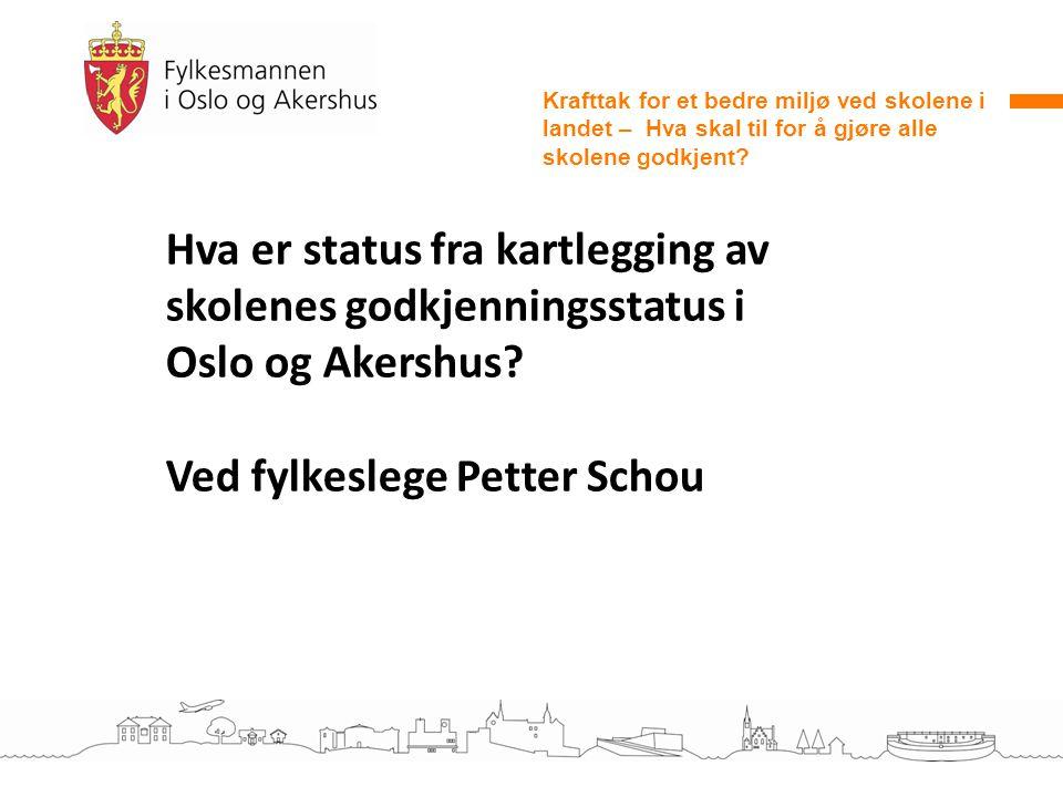 Ved fylkeslege Petter Schou
