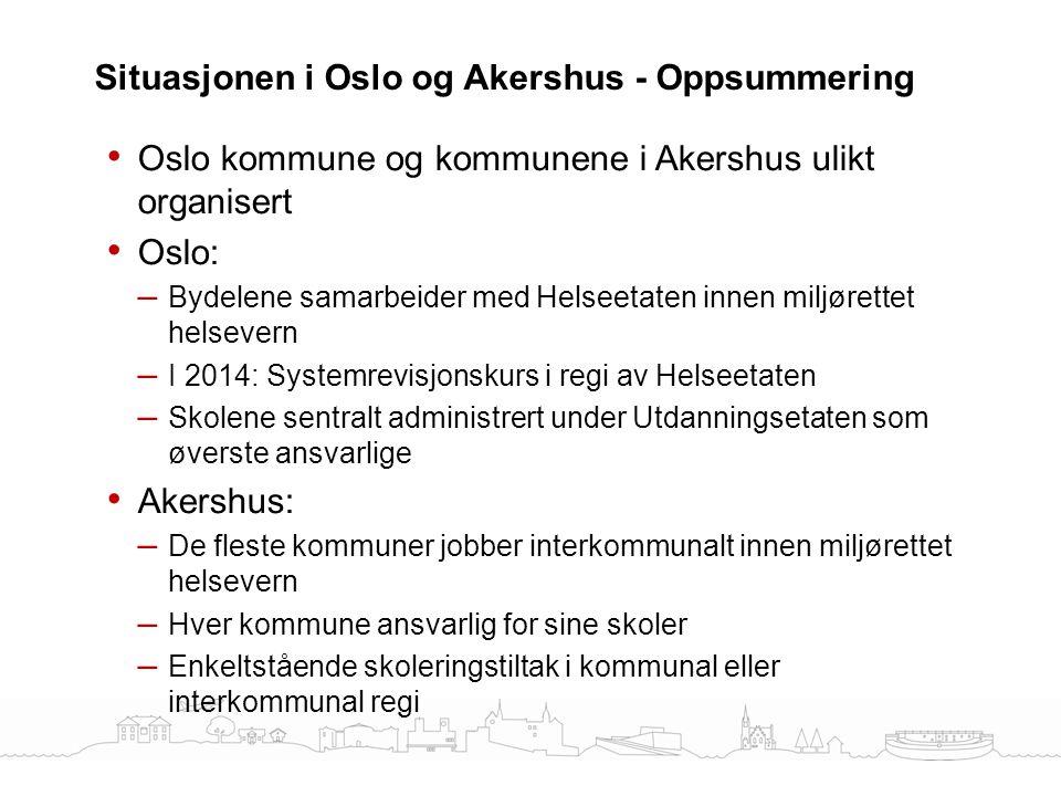 Situasjonen i Oslo og Akershus - Oppsummering