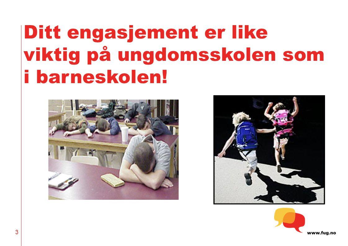 Ditt engasjement er like viktig på ungdomsskolen som i barneskolen!