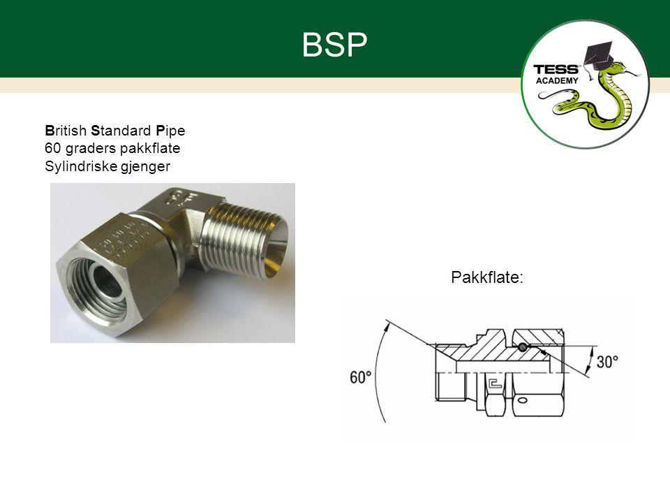 BSP Pakkflate: British Standard Pipe 60 graders pakkflate
