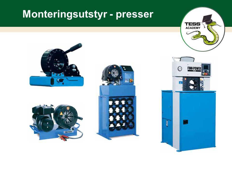 Monteringsutstyr - presser