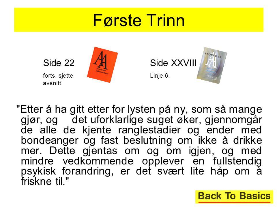 Første Trinn Side 22. forts. sjette avsnitt. Side XXVIII. Linje 6.