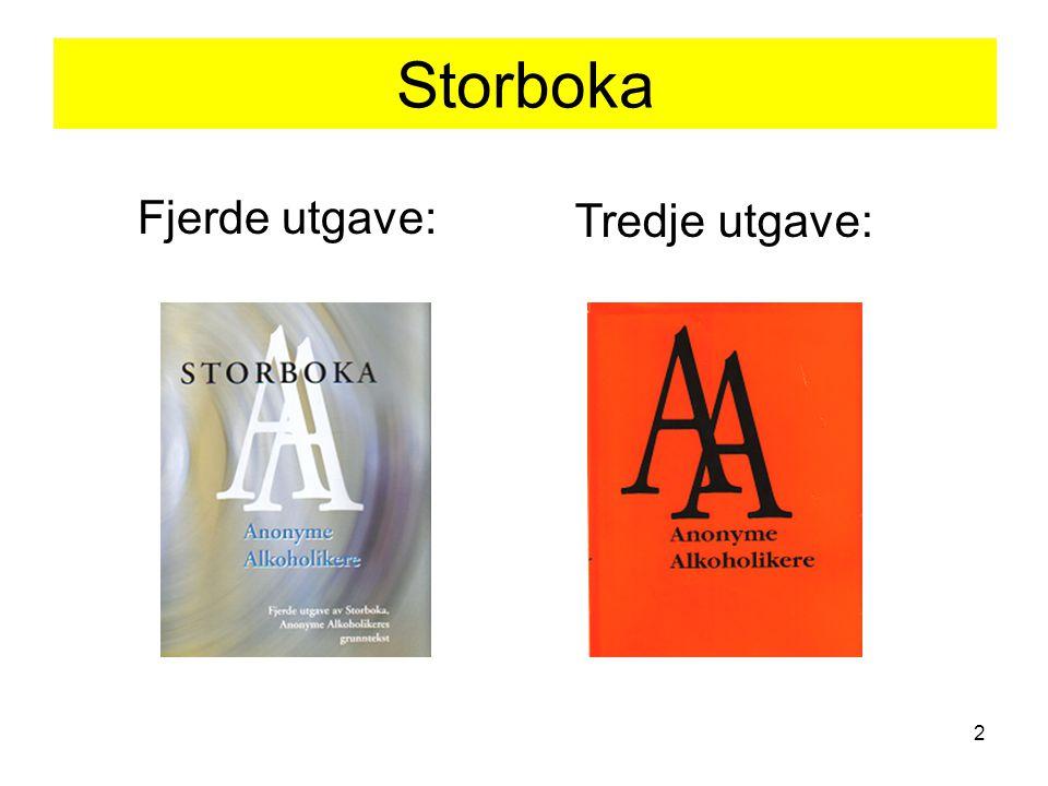 Storboka Fjerde utgave: Tredje utgave: