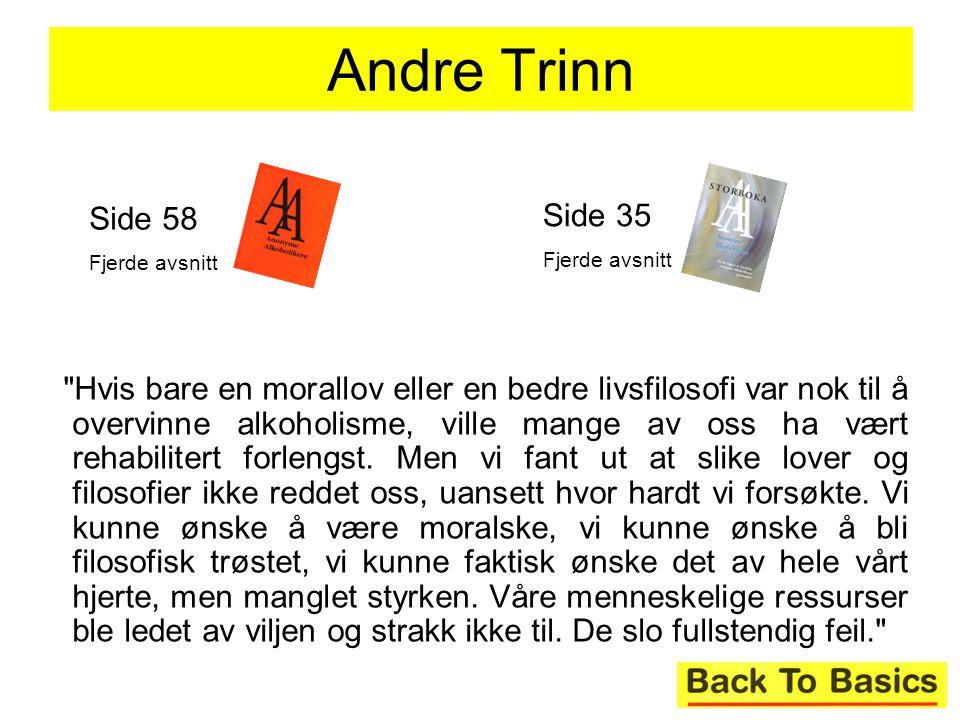 Andre Trinn Side 58. Fjerde avsnitt. Side 35. Fjerde avsnitt.