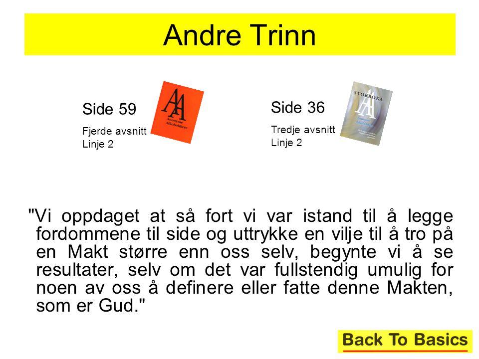 Andre Trinn Side 59. Fjerde avsnitt Linje 2. Side 36. Tredje avsnitt Linje 2.
