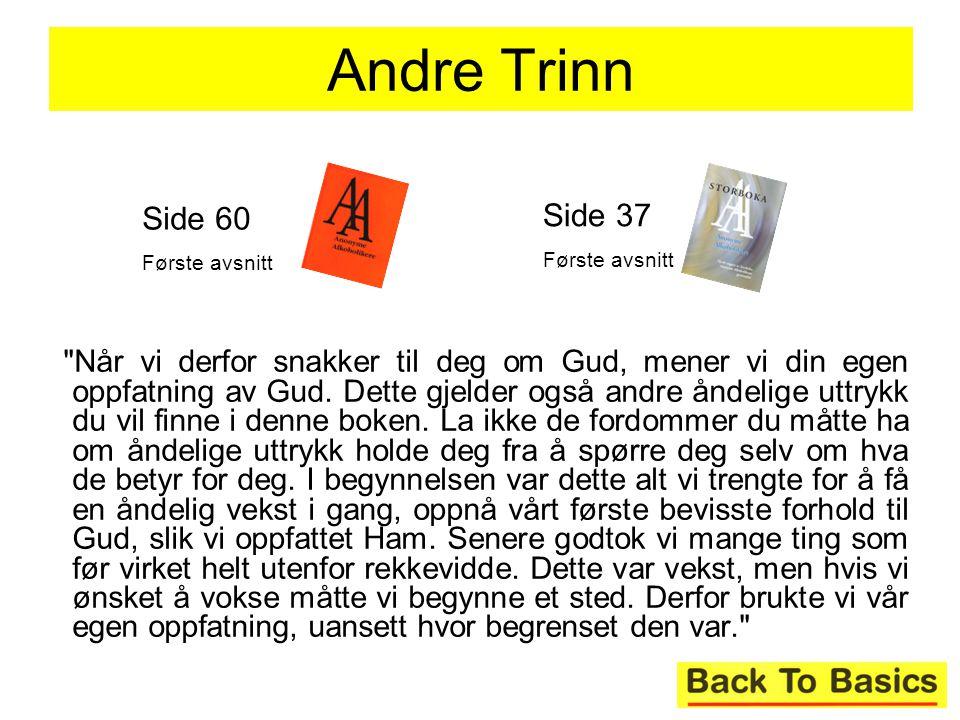Andre Trinn Side 60. Første avsnitt. Side 37. Første avsnitt.