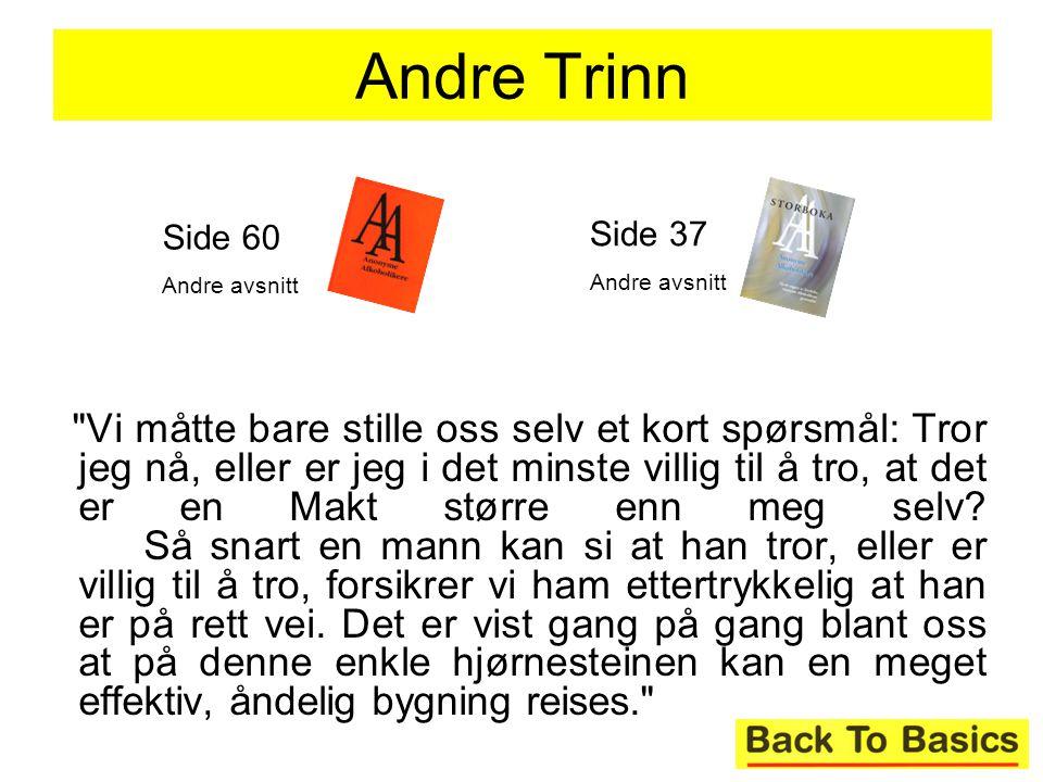 Andre Trinn Side 60. Andre avsnitt. Side 37. Andre avsnitt.