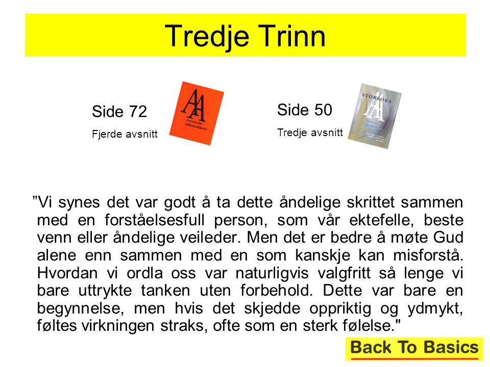 Tredje Trinn Side 72. Fjerde avsnitt. Side 50. Tredje avsnitt.