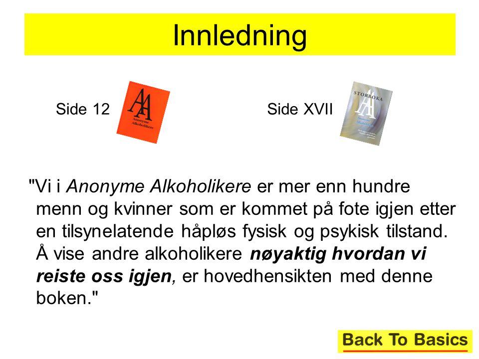 Innledning Side 12. Side XVII.