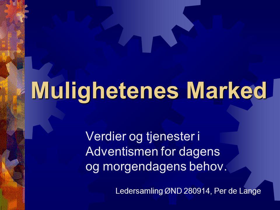 Mulighetenes Marked Verdier og tjenester i Adventismen for dagens og morgendagens behov.