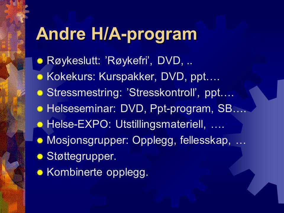 Andre H/A-program Røykeslutt: 'Røykefri', DVD, ..