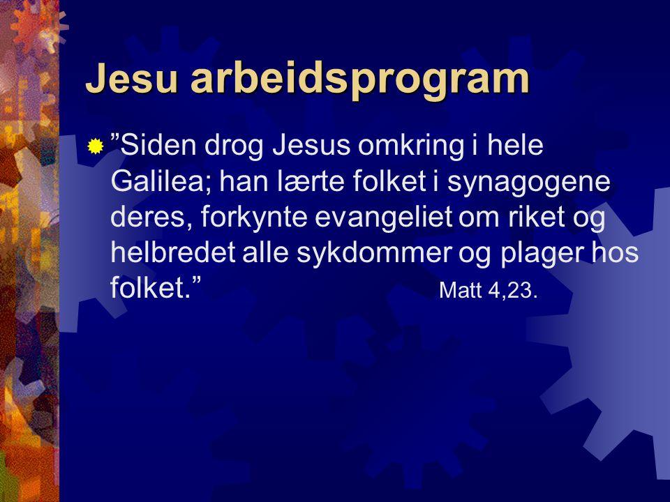 Jesu arbeidsprogram