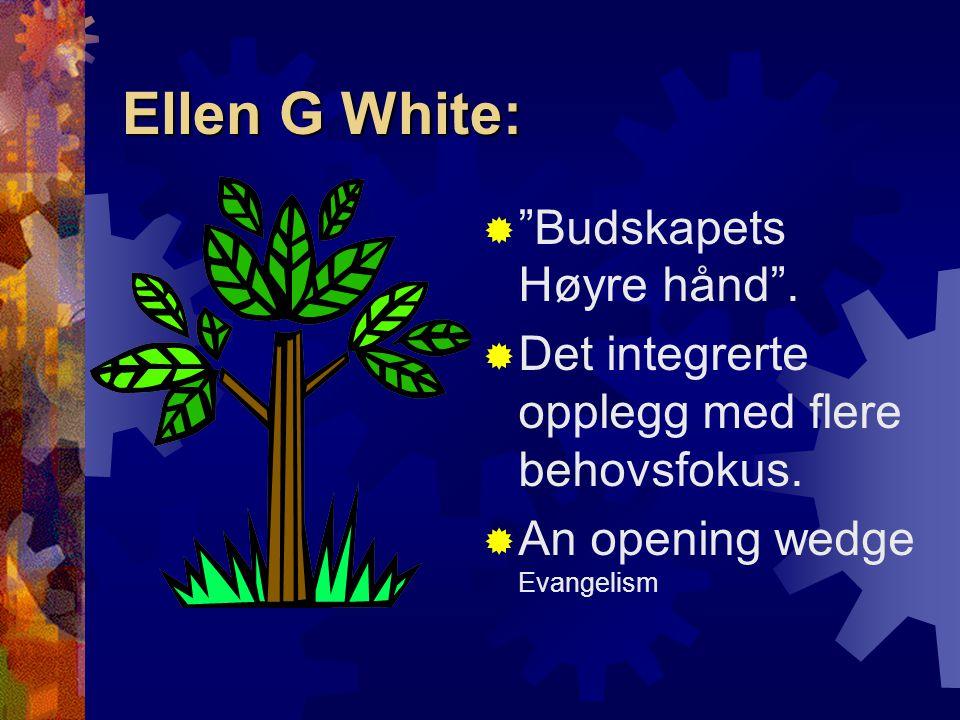 Ellen G White: Budskapets Høyre hånd .