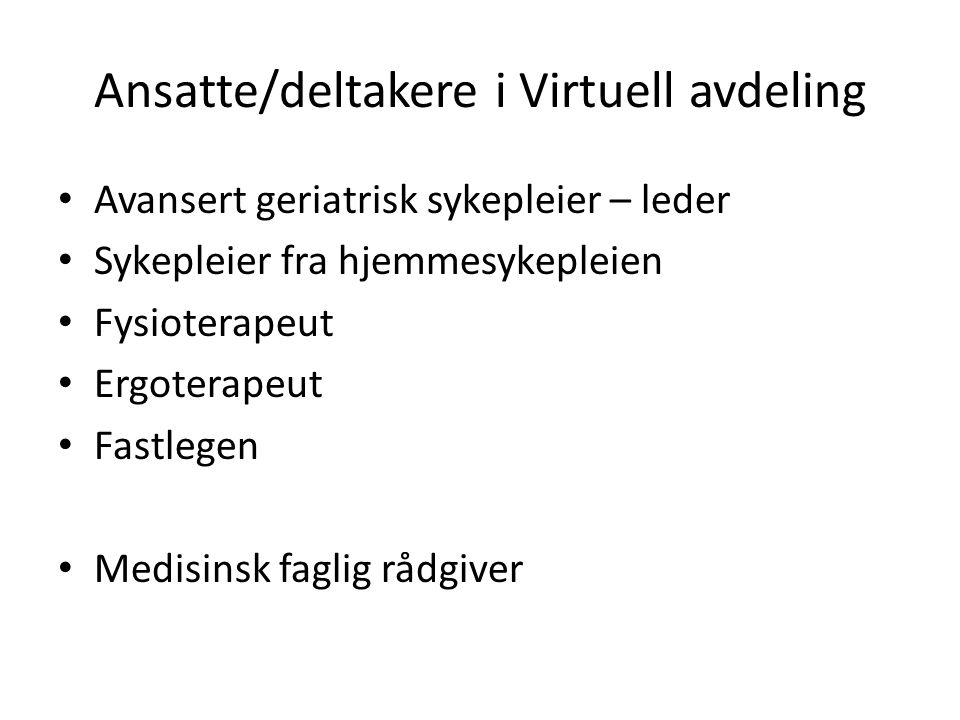 Ansatte/deltakere i Virtuell avdeling