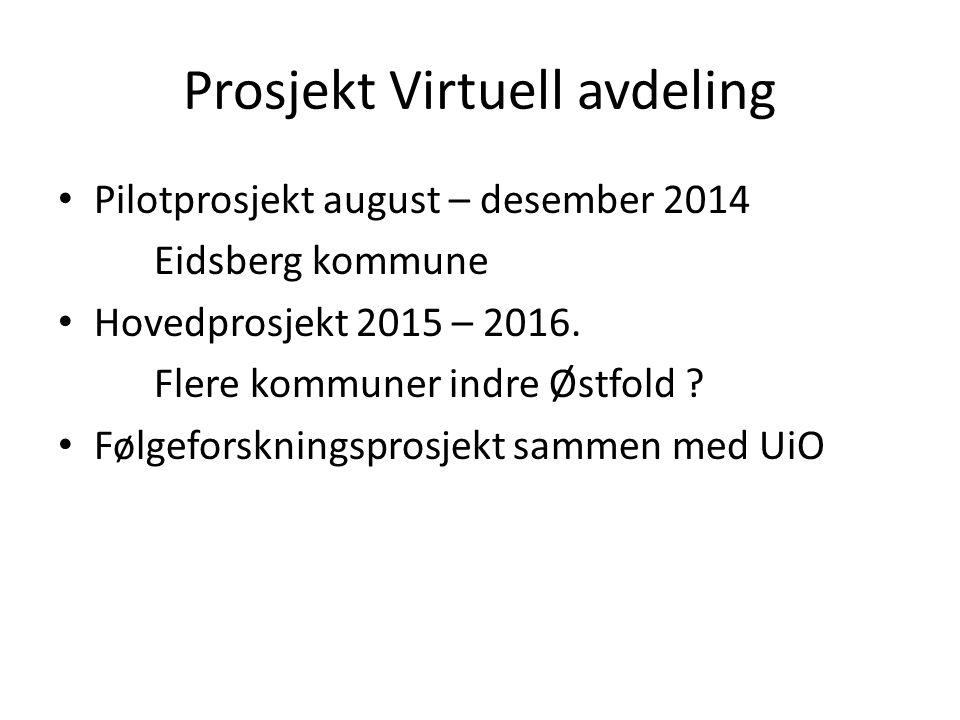 Prosjekt Virtuell avdeling