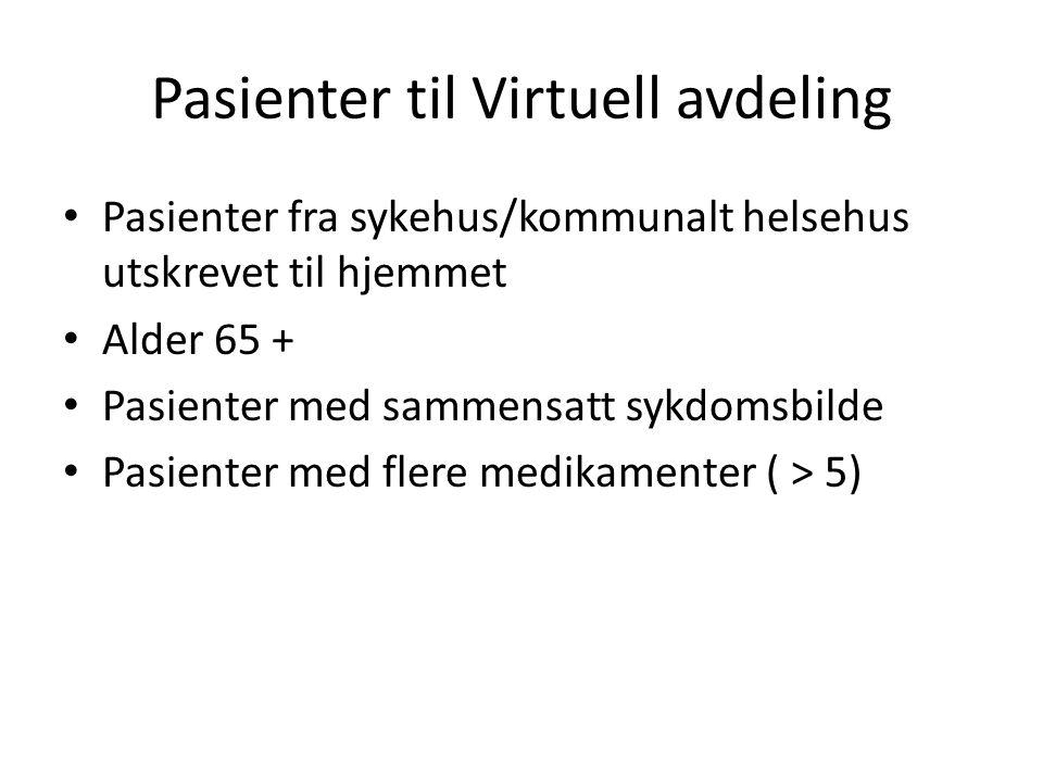 Pasienter til Virtuell avdeling