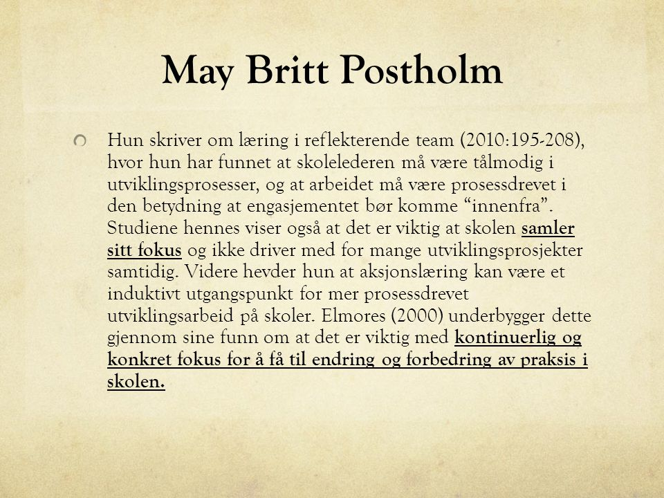 May Britt Postholm