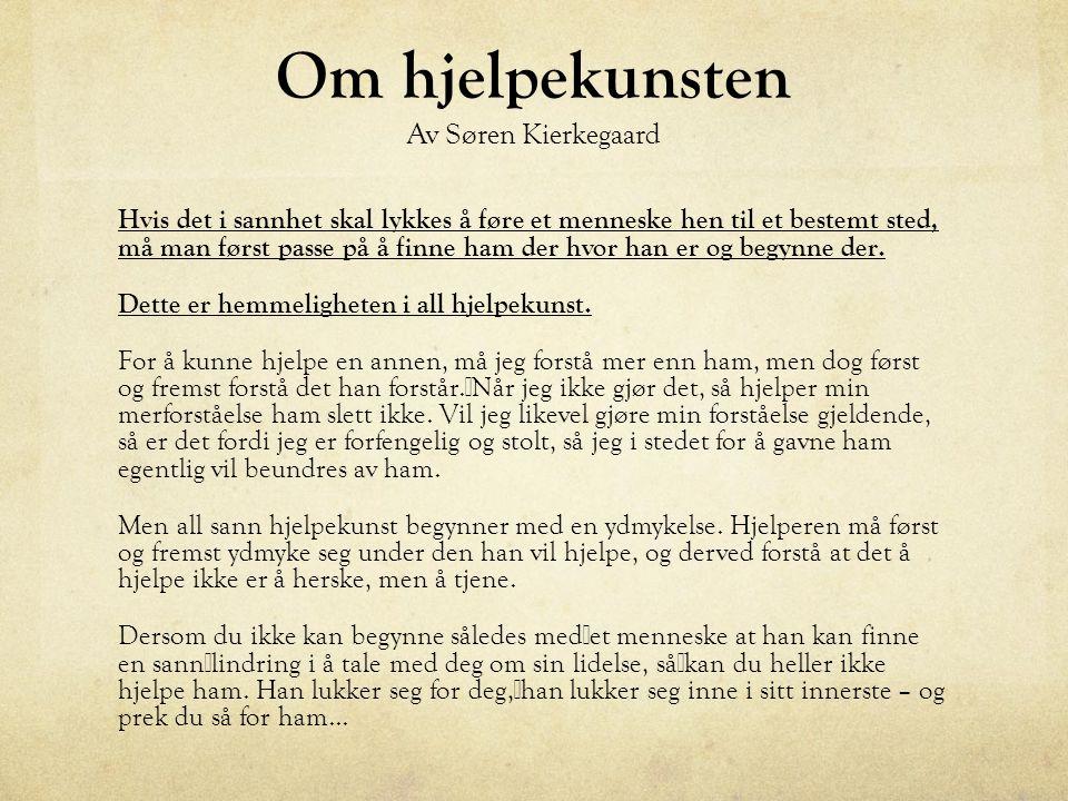 Om hjelpekunsten Av Søren Kierkegaard