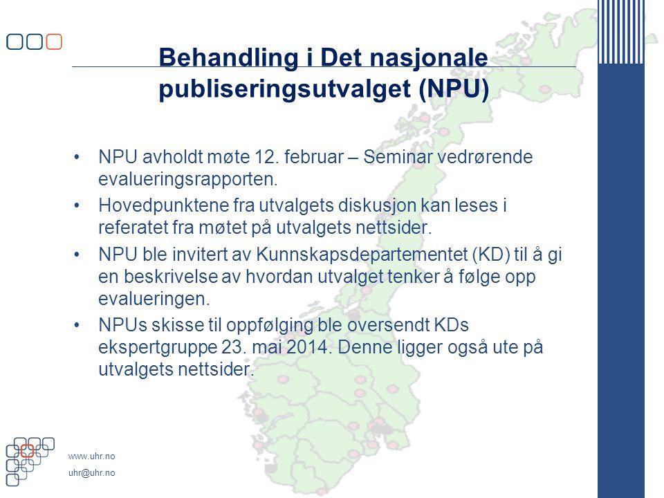 Behandling i Det nasjonale publiseringsutvalget (NPU)