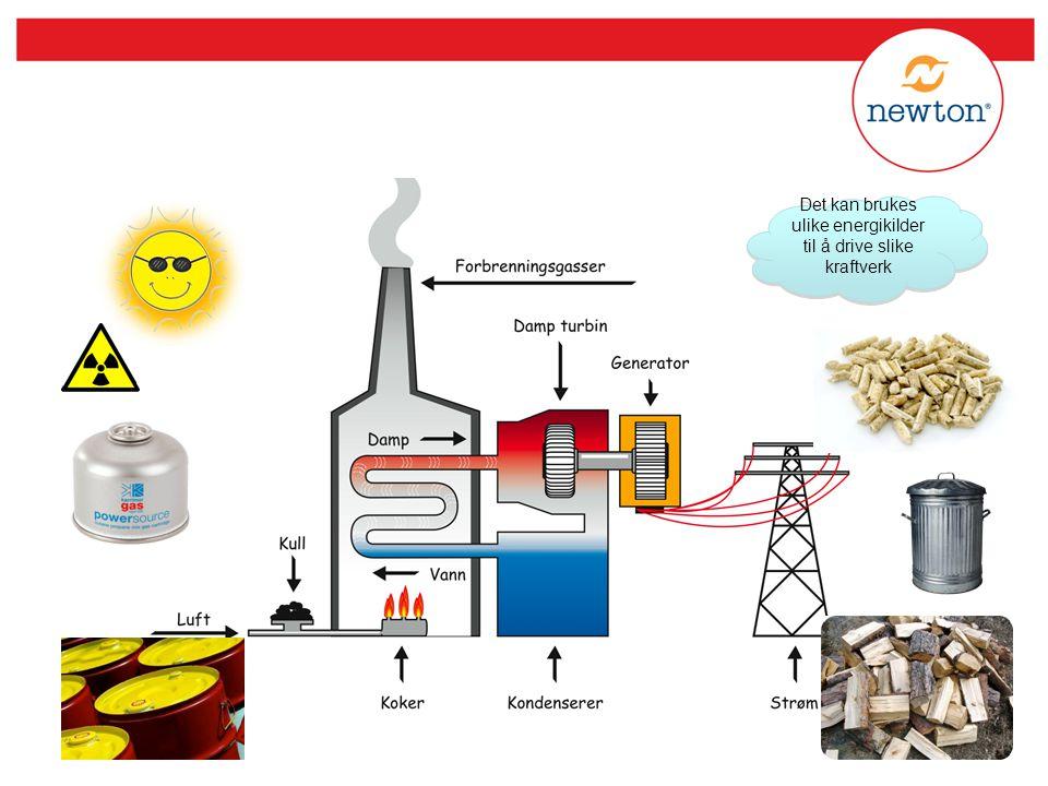 Det kan brukes ulike energikilder til å drive slike kraftverk