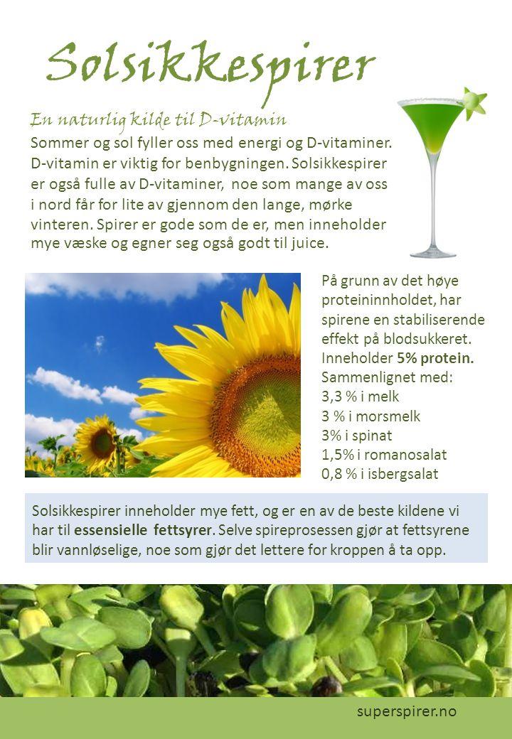 Solsikkespirer En naturlig kilde til D-vitamin