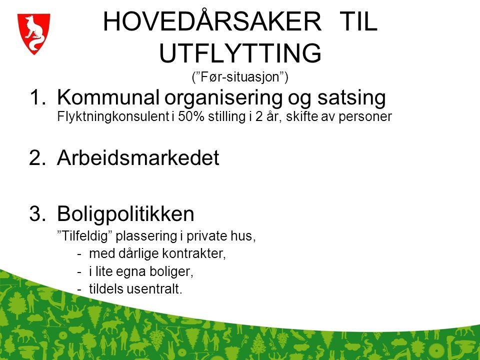 HOVEDÅRSAKER TIL UTFLYTTING ( Før-situasjon )
