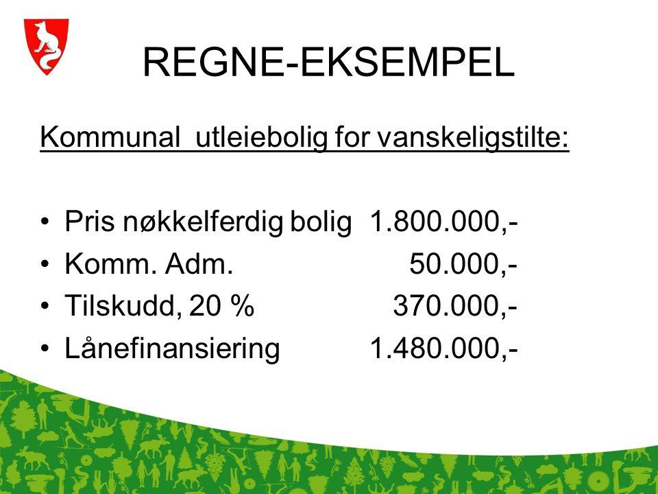 REGNE-EKSEMPEL Kommunal utleiebolig for vanskeligstilte: