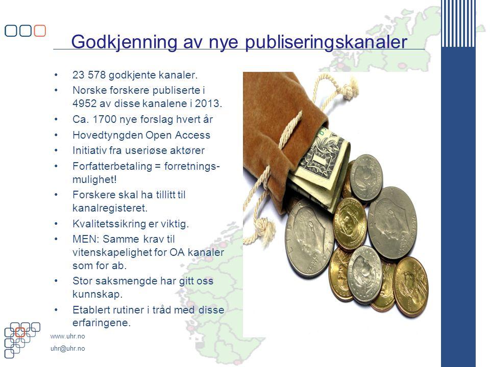 Godkjenning av nye publiseringskanaler