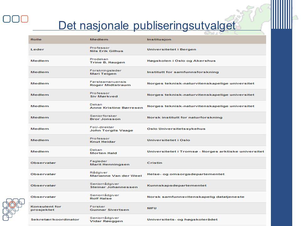 Det nasjonale publiseringsutvalget