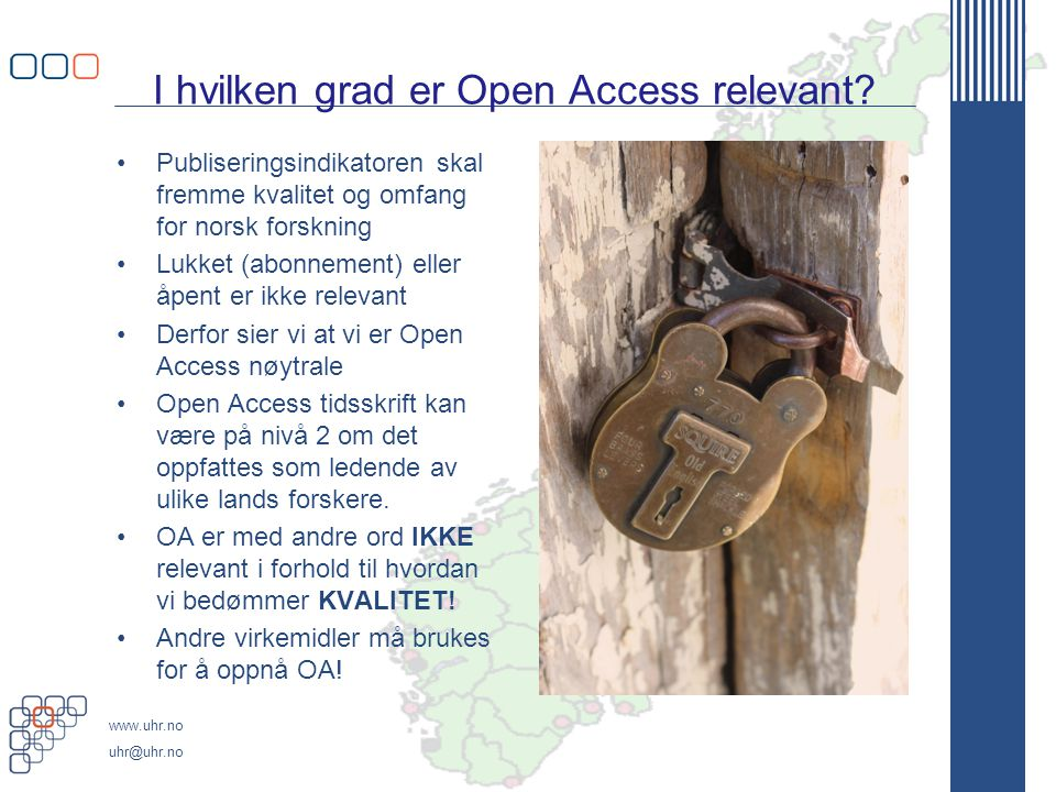 I hvilken grad er Open Access relevant