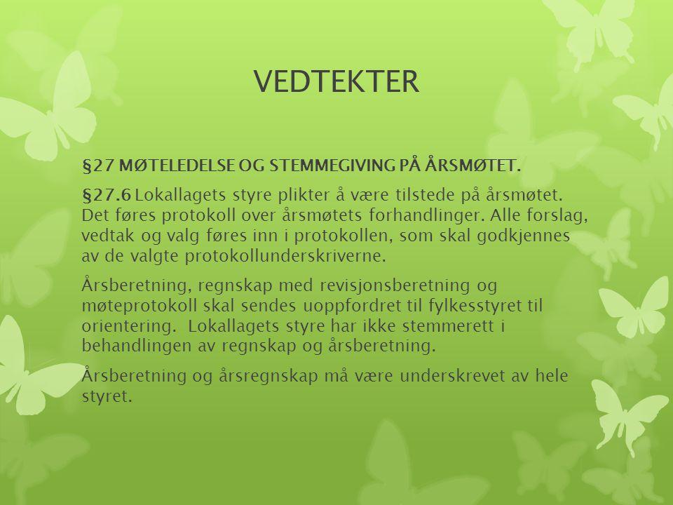 VEDTEKTER