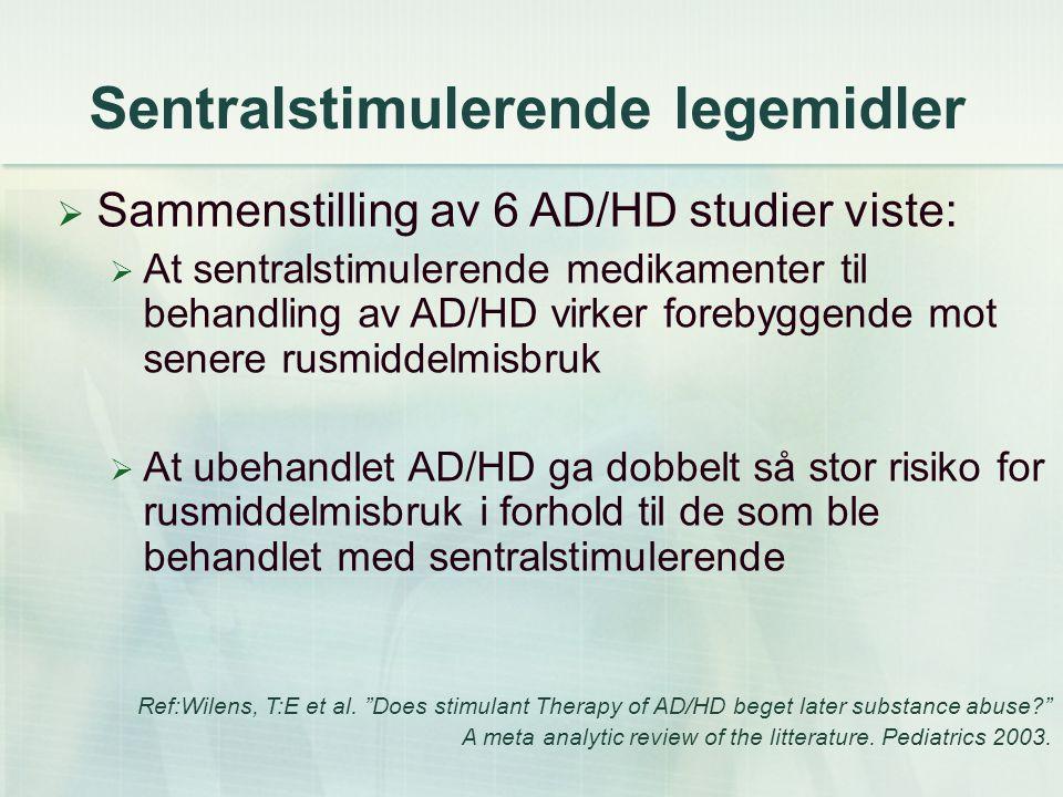 Sentralstimulerende legemidler