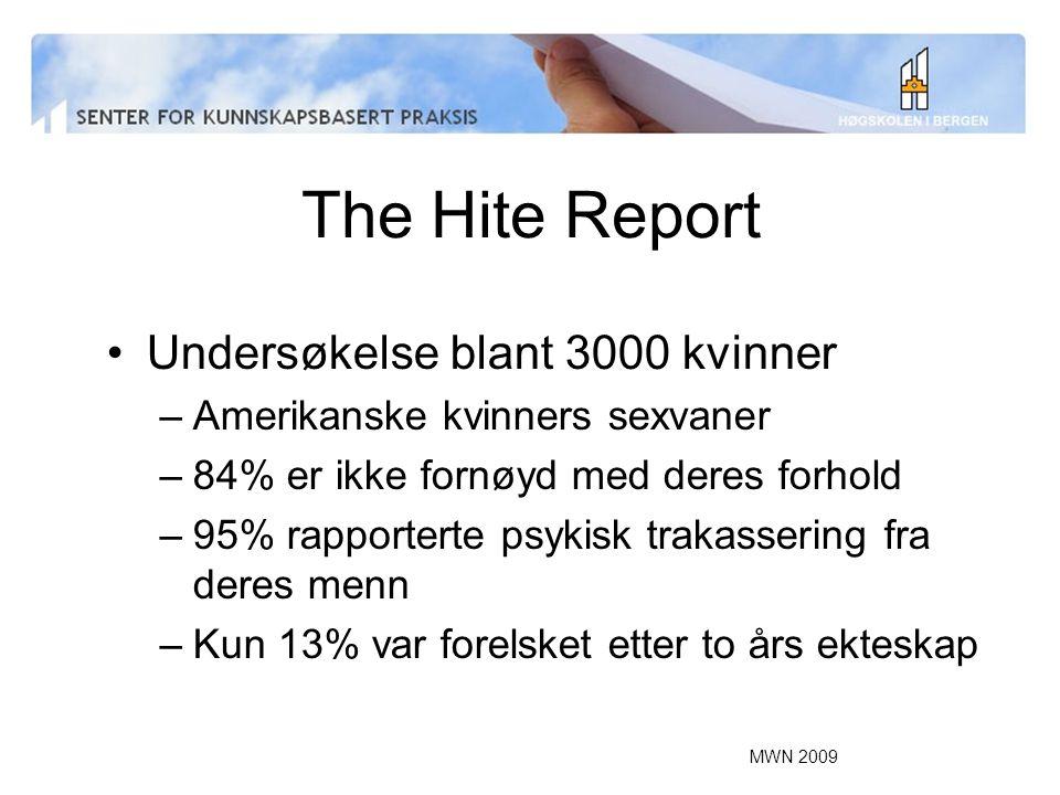 The Hite Report Undersøkelse blant 3000 kvinner