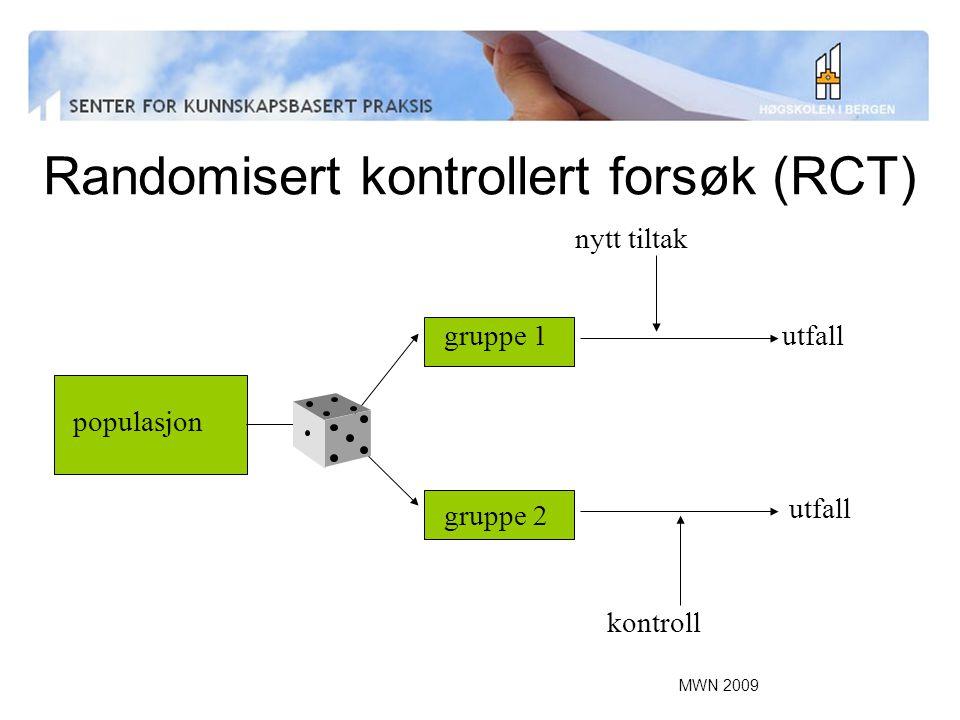 Randomisert kontrollert forsøk (RCT)