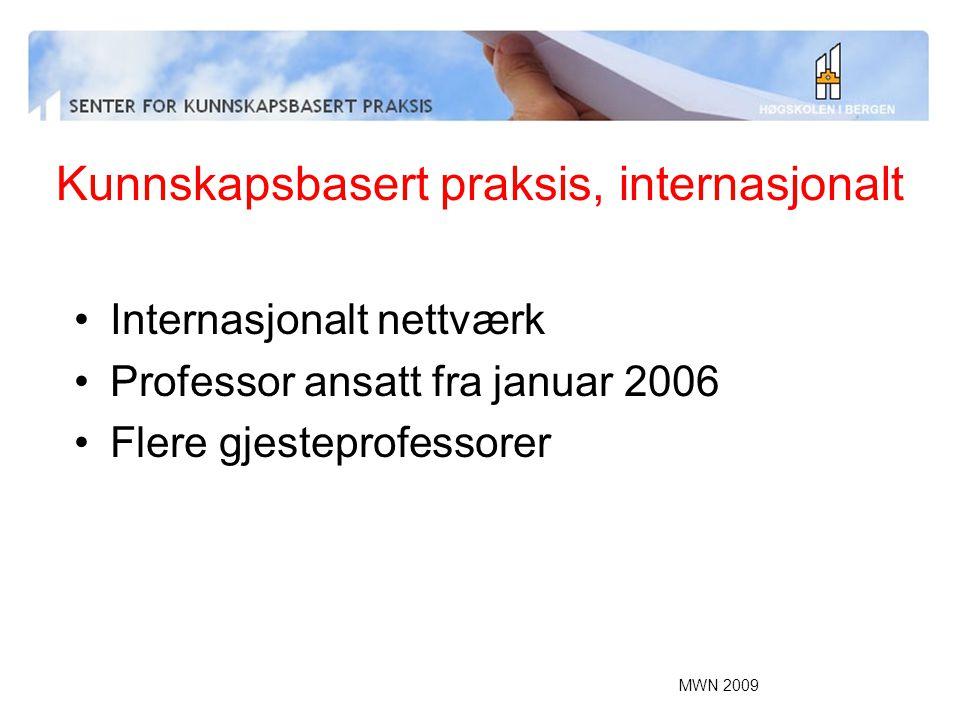 Kunnskapsbasert praksis, internasjonalt