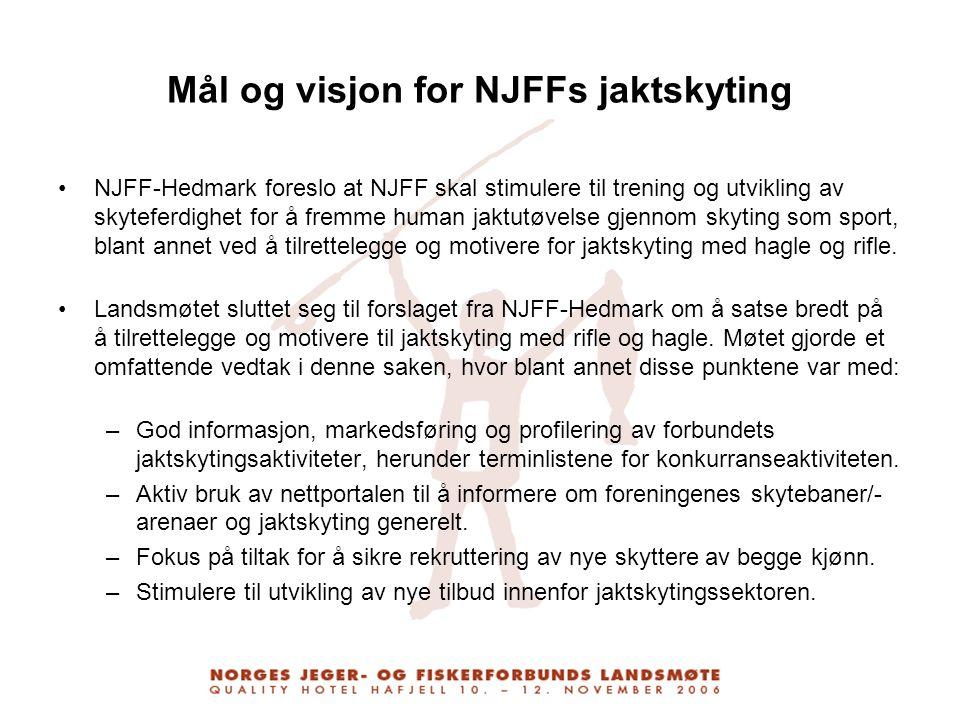 Mål og visjon for NJFFs jaktskyting