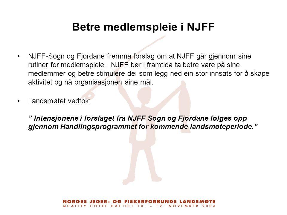 Betre medlemspleie i NJFF
