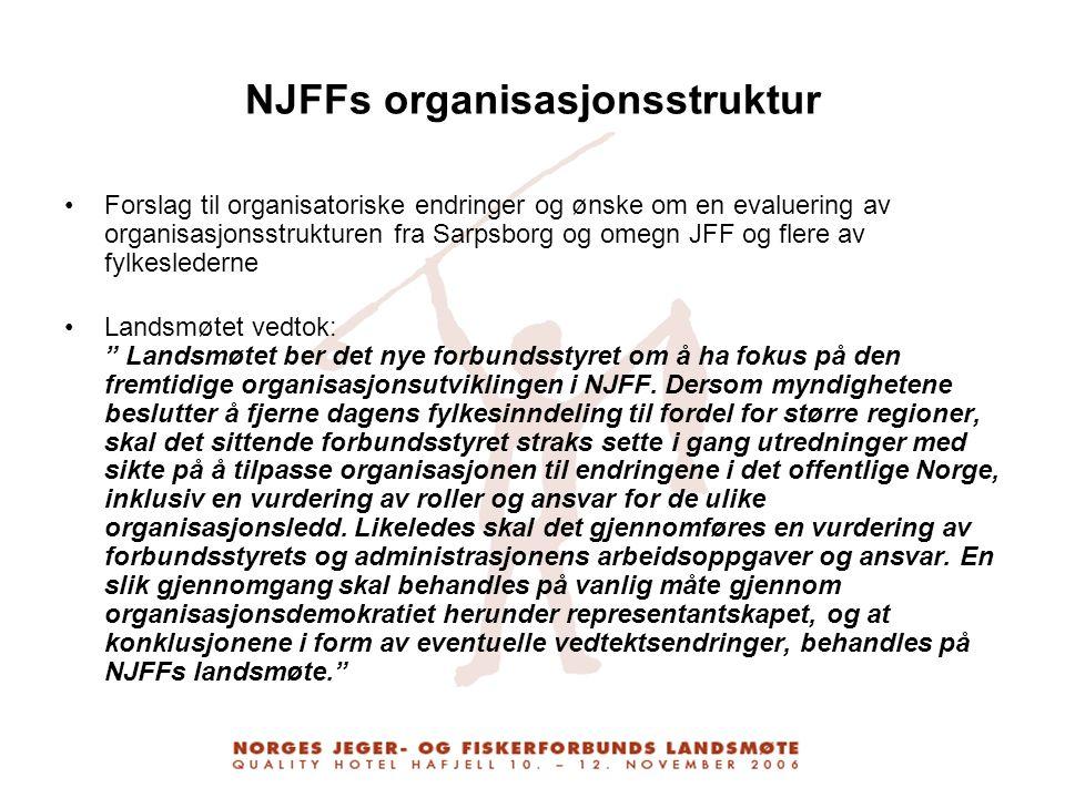 NJFFs organisasjonsstruktur