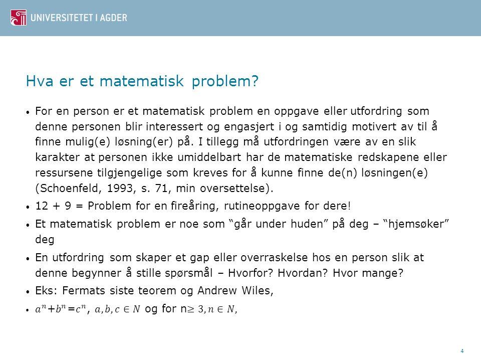 Hva er et matematisk problem