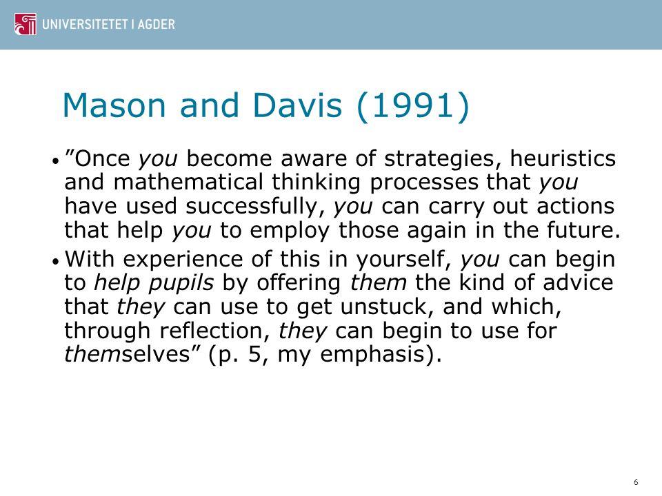 Mason and Davis (1991)