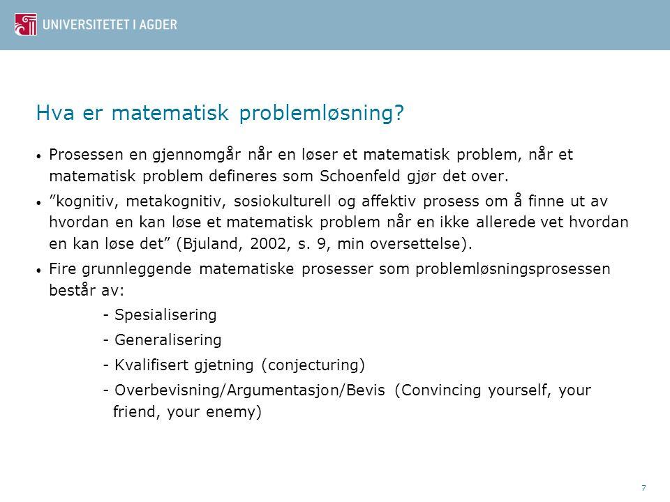 Hva er matematisk problemløsning