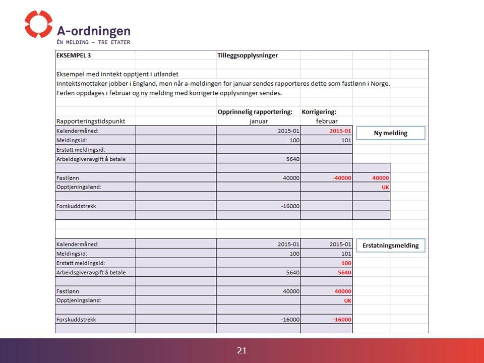 Det som er viktig her er at den ene summen med 40000 har «Landskode = UK knyttet til seg, mens den andre summen med -40000 har ingen landkode, og dermed regnes som inntekt i Norge.