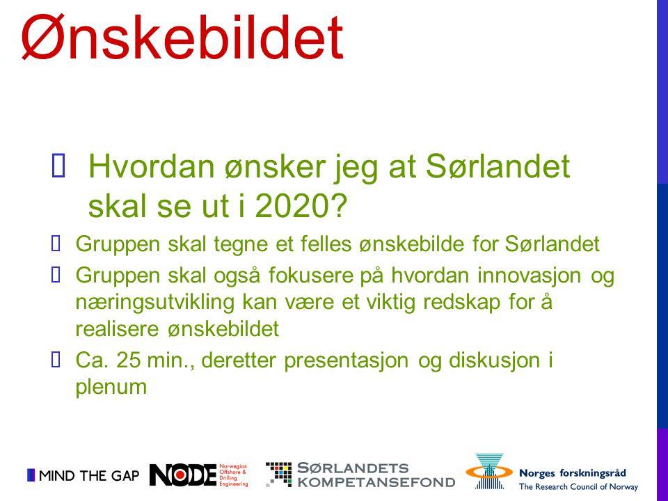 Ønskebildet Hvordan ønsker jeg at Sørlandet skal se ut i 2020