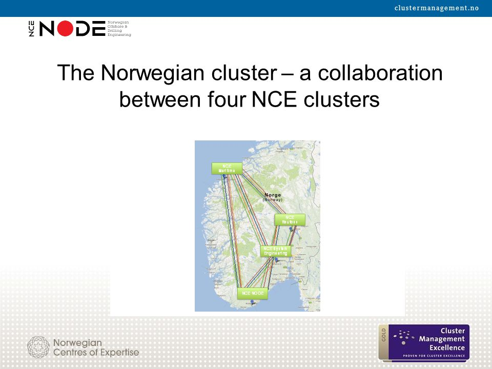 The Norwegian cluster – a collaboration between four NCE clusters