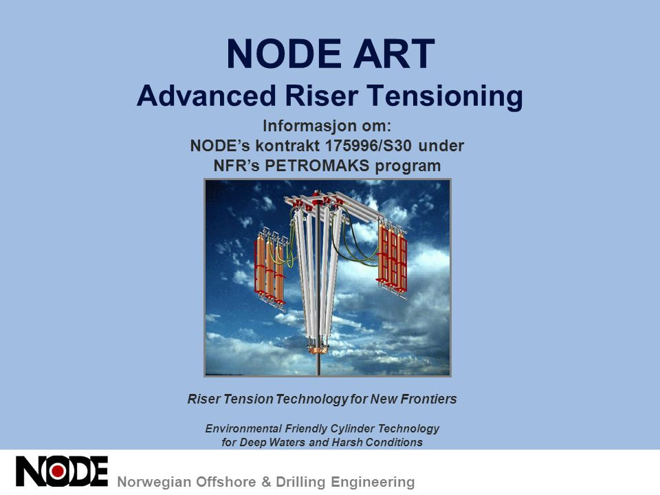 NODE ART Advanced Riser Tensioning