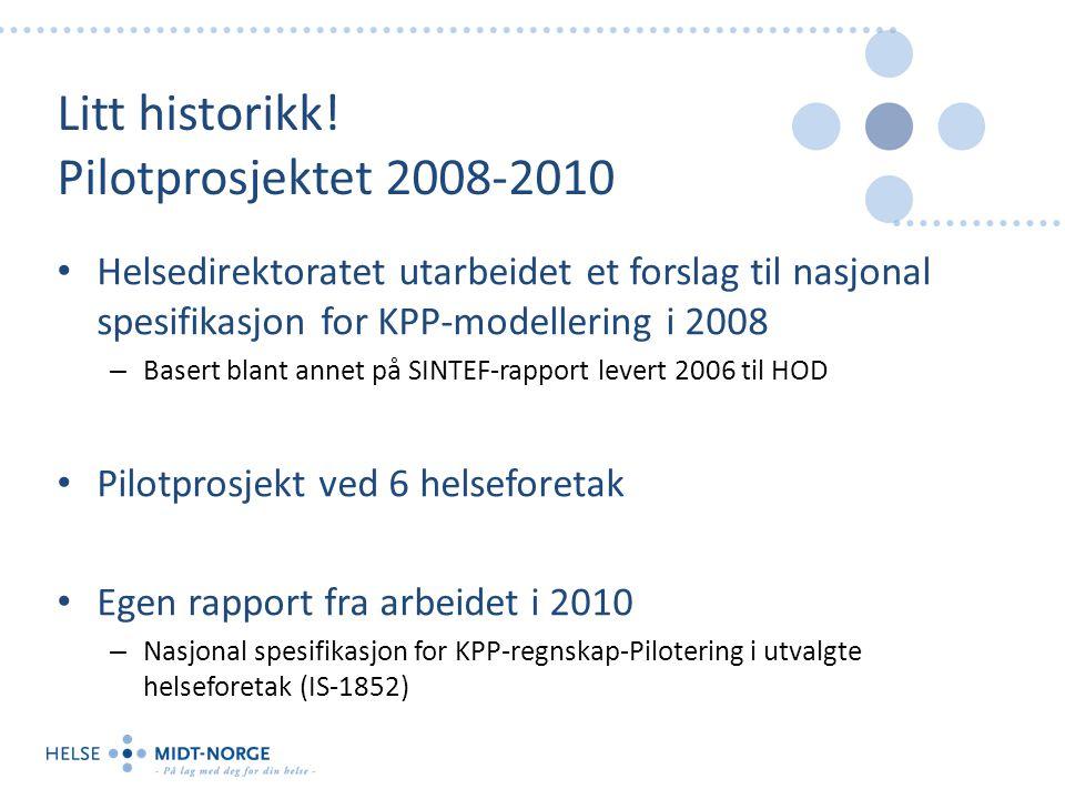 Litt historikk! Pilotprosjektet 2008-2010