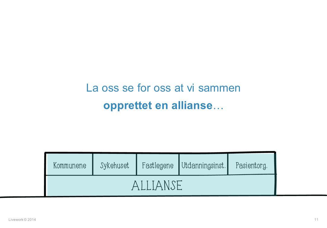 La oss se for oss at vi sammen opprettet en allianse…