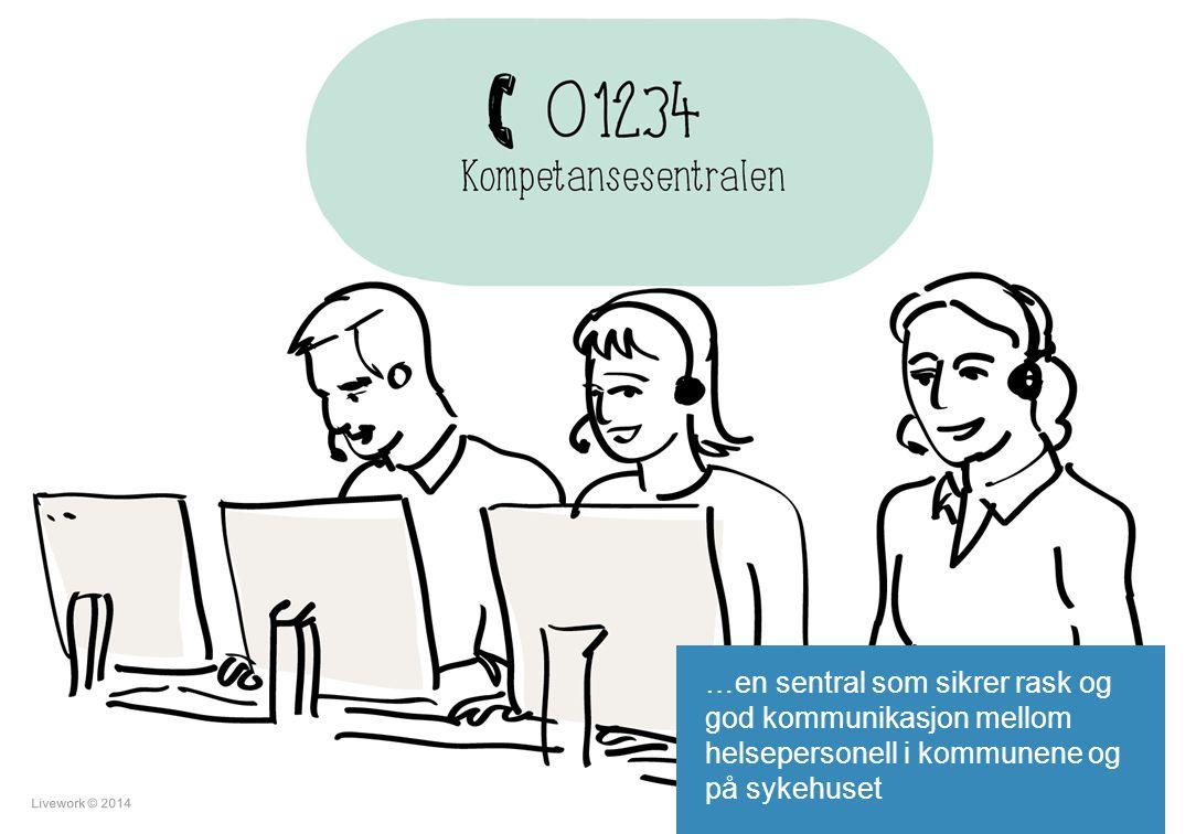 …en sentral som sikrer rask og god kommunikasjon mellom helsepersonell i kommunene og på sykehuset