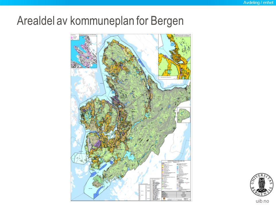 Arealdel av kommuneplan for Bergen