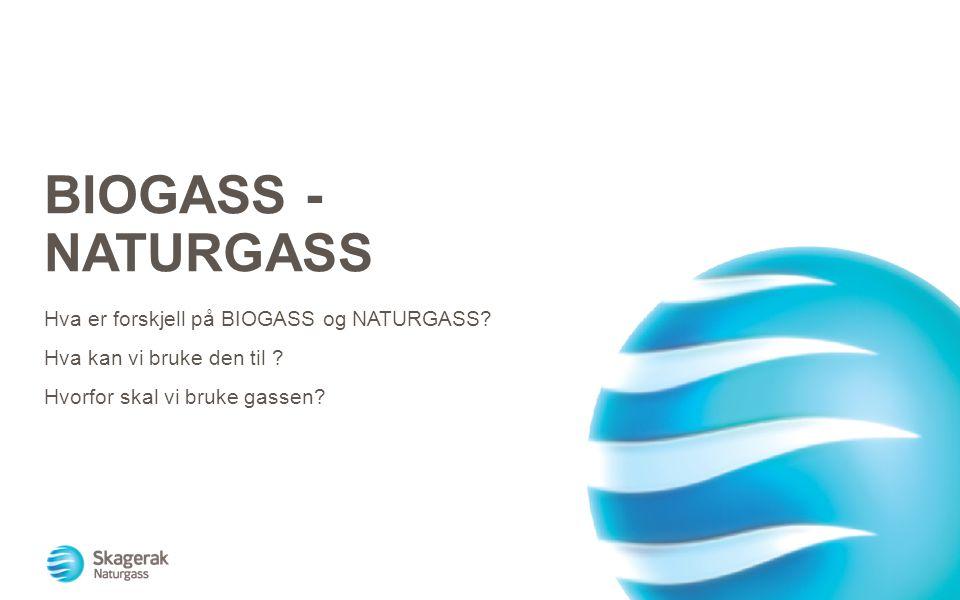Biogass - naturgass Hva er forskjell på BIOGASS og NATURGASS